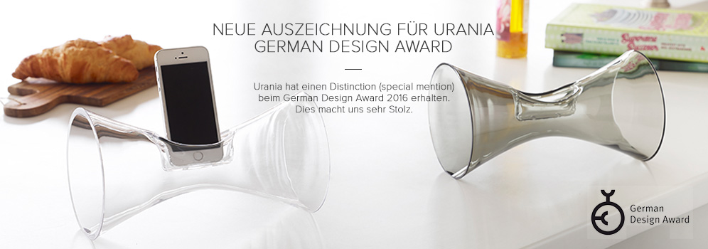 German Design Award, special mention, Urania